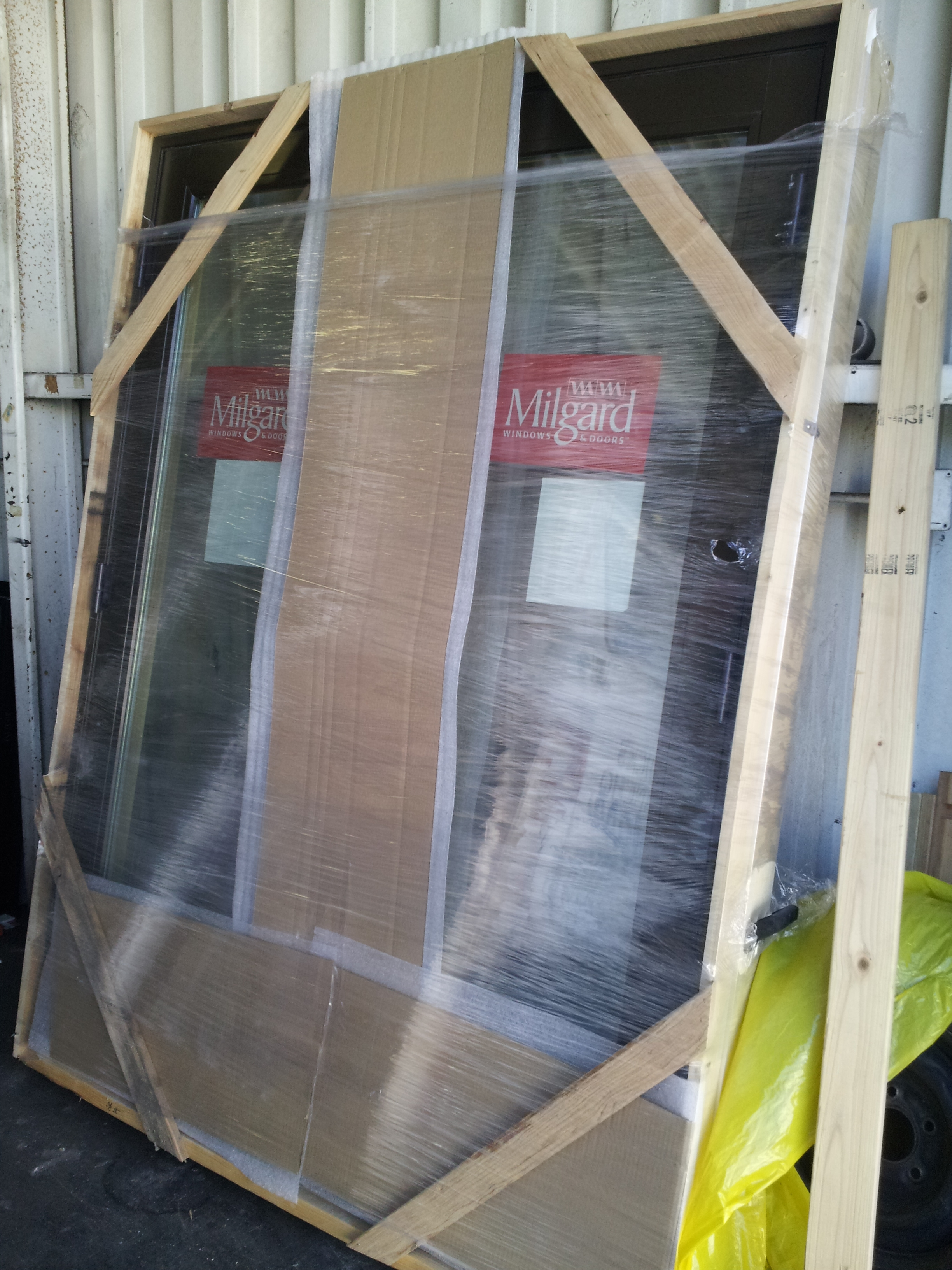 Woodclad Door in Packaging