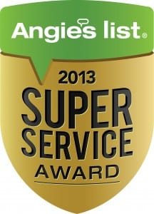 Dick's Rancho Glass earns the Angie's List Super Service Award for the third year in a row!