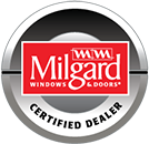 Milgard certified dealer logo