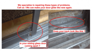 Sliding door glass repair and patio door roller replacement woman trying to open stuck door slider in need of repair planetlyrics Image collections