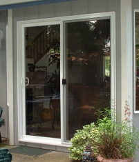 Before Pet Door Design | sacramento glass slider