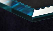 Beaded Bevel shelf glass edge