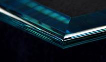 Bullnose Bevel shelf glass edge