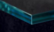 Flat Polish shelf glass edge