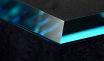 Mitrel shelf glass edge