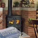wood stove with glass windows
