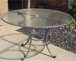 Round style glass table top