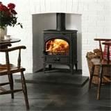 wood stove with glass window