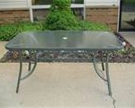 rectangle style glass table top