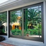 Aluminum Sliding French Door with Perimeter Grids