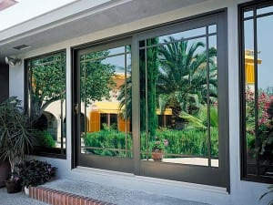 Aluminum Sliding French Door with Perimeter Grids modern