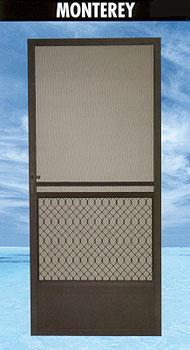 Montery screen door