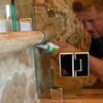 Frameless Shower Bullnose Detail install seal bevel
