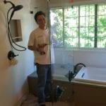 shower glass enclosure installation