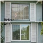 windows before and after new windows up close