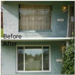 windows before and after upclose