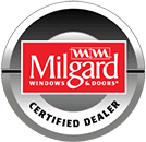 Certified Milgard Windows Dealer logo