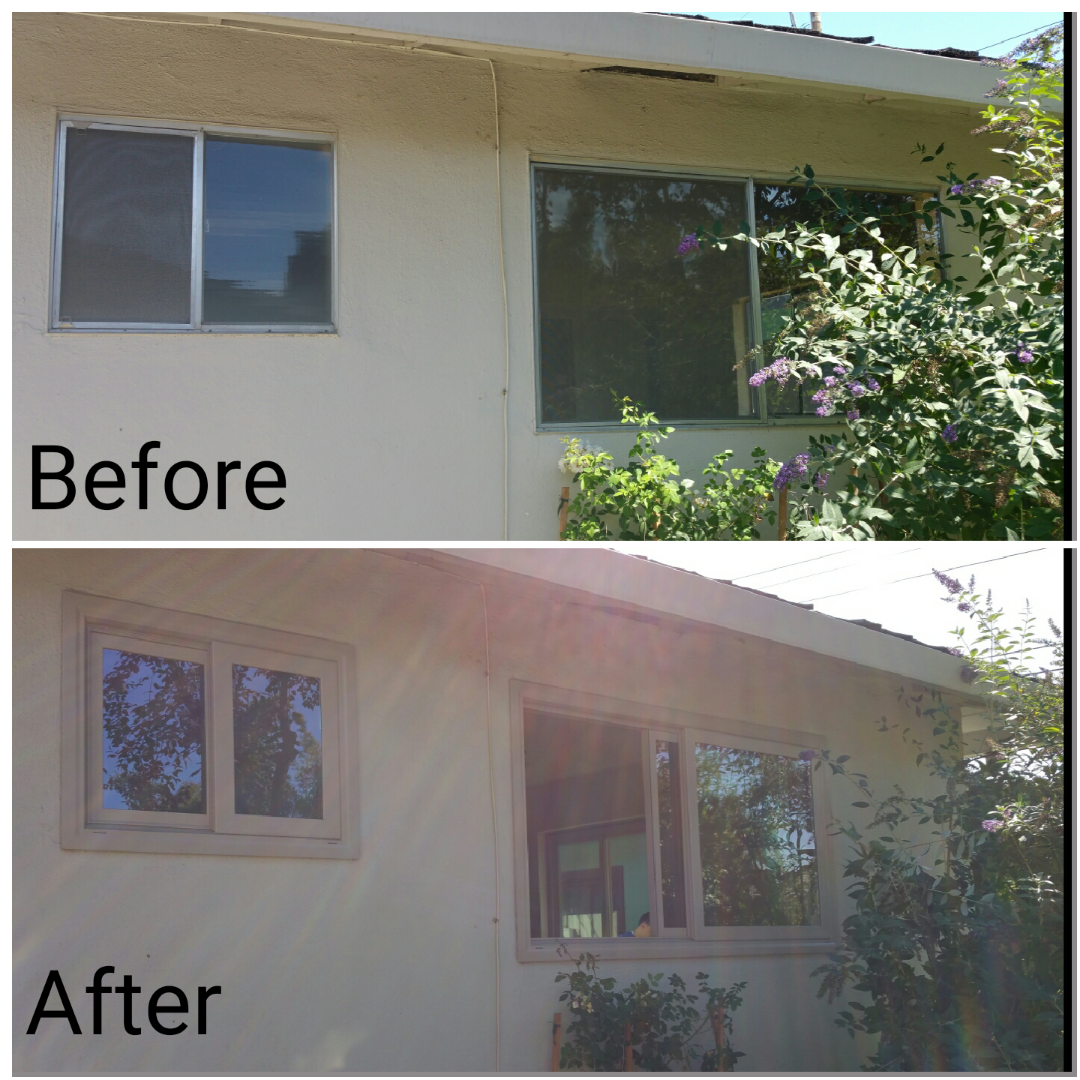 River City Before and after side windows