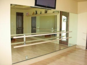 dance studio mirror with bar