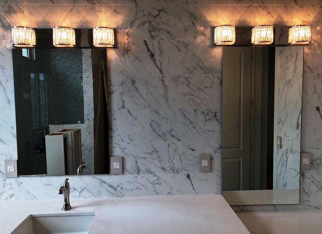 Bathroom mirrors - vanity - dual - on marble look