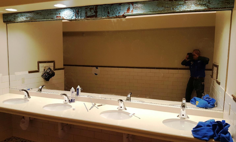 Big bathroom mirror - 4 sink vanity