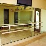 mirror with ballet bar - studio