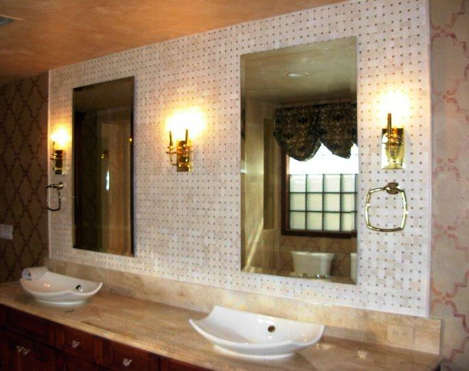 Bathroom vanity - basin sinks - sdual mirrors 2