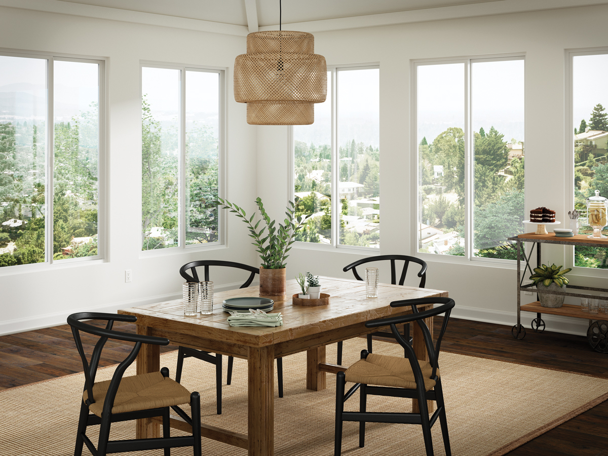 Milgard Trinsic Series windows in dining area