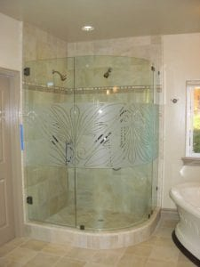 rounded shape - Glass - Shower Enclosure sacramento