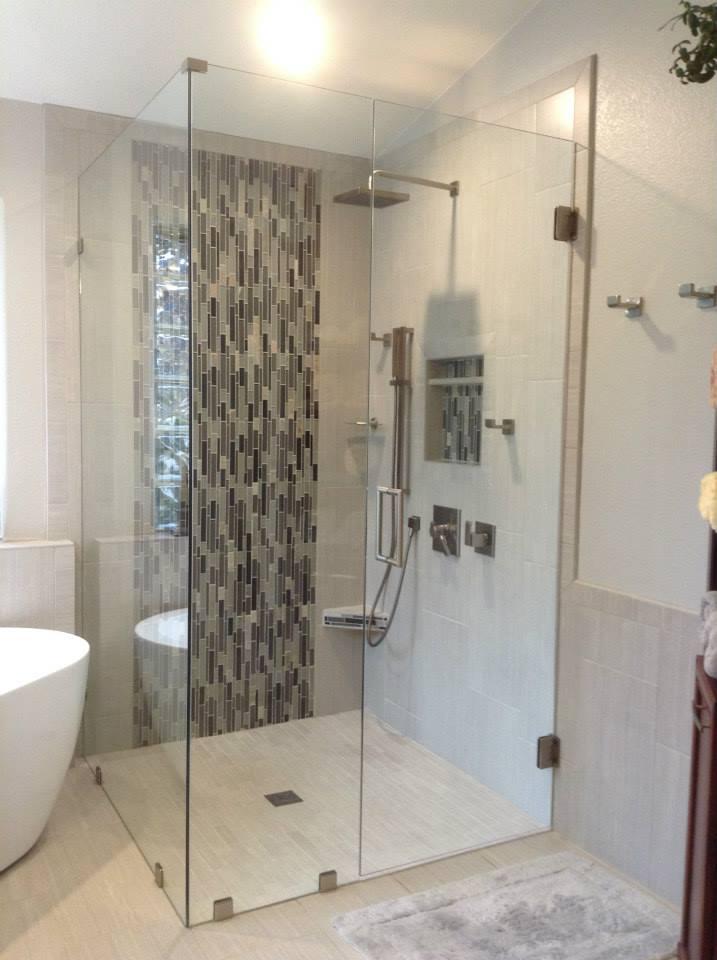 Glass - Shower Enclosure - FramelessShower_GlueChipGlass