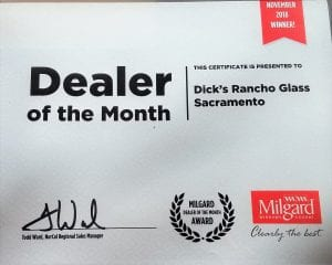 Dealer Award - Milgard Thumb