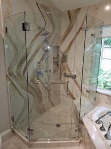 Glass Shower Enclosure - Neo Angle