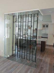 glass wine enclosure - wine storage - wine room