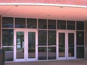 Storefront entrance glass - sacramento door installation