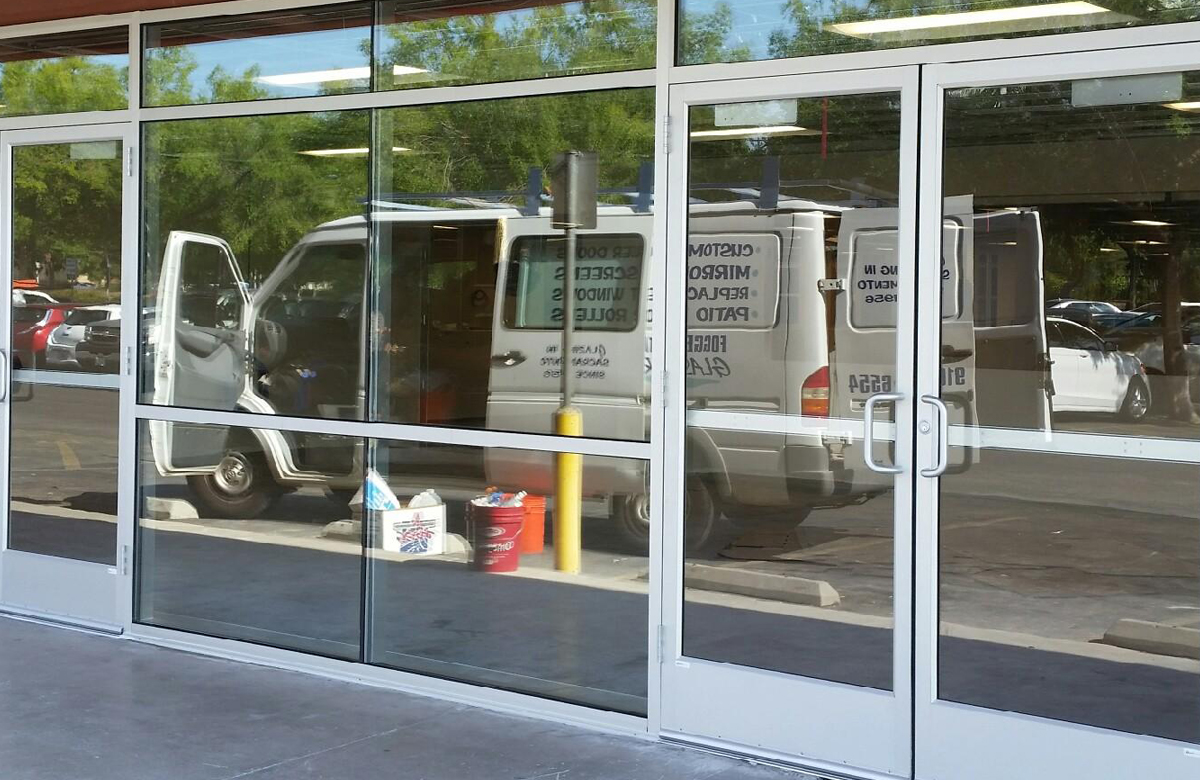 commercial glass storefront