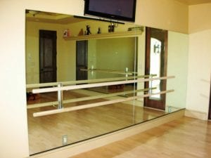 dance studio mirror with bar sacramento