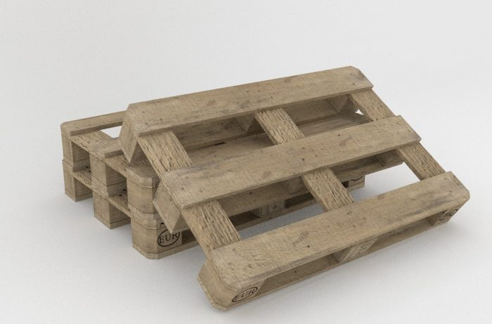 glass top table can be made with pallets